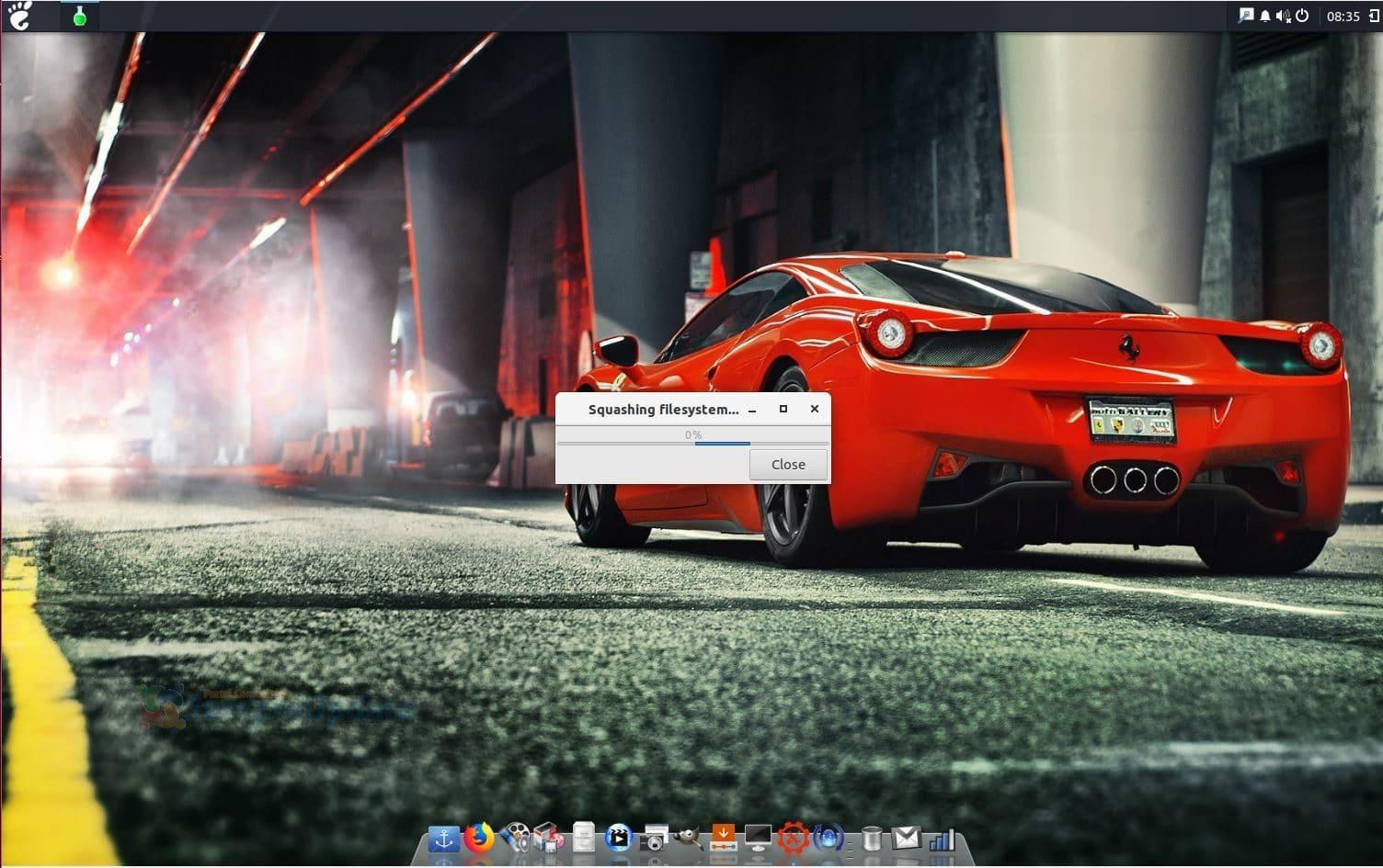 Exton Os Desktop Refracta Snapshot Running 180301