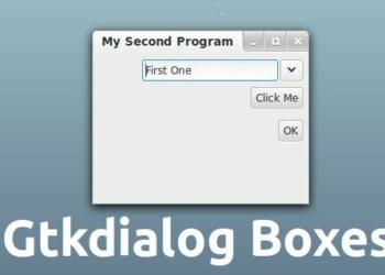 gtkdialog como usar