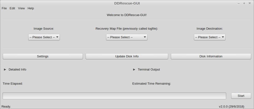 DDrescue-GUI no Ubuntu