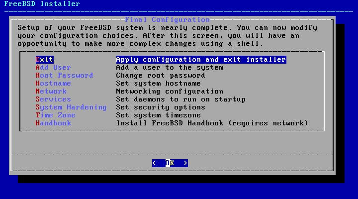 FreeBSD - configuração final