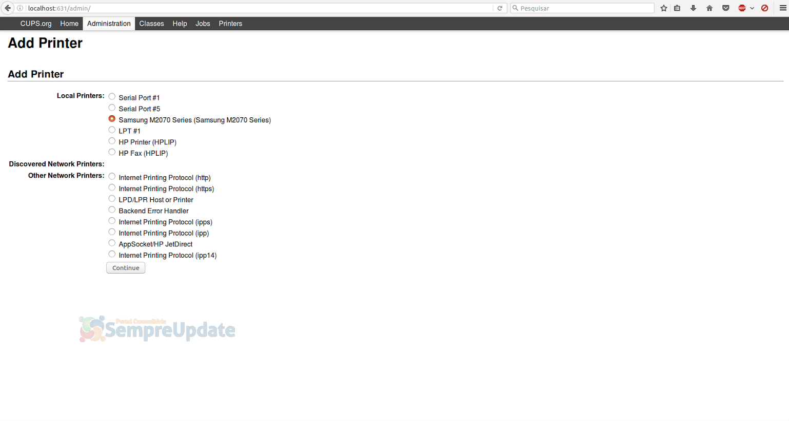 Como instalar uma impressora em distribuições baseadas no Ubuntu ou Fedora