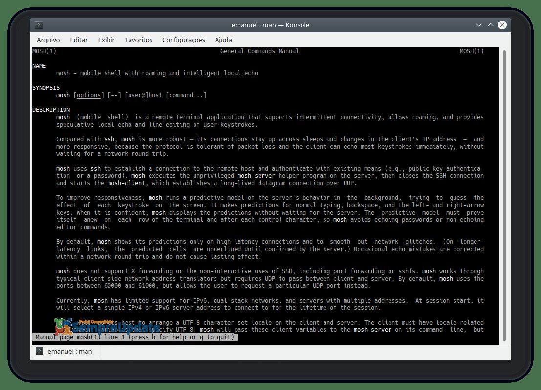 Instalar Mosh Mobile Shell No Ubuntu Debian Fedora Opensuse