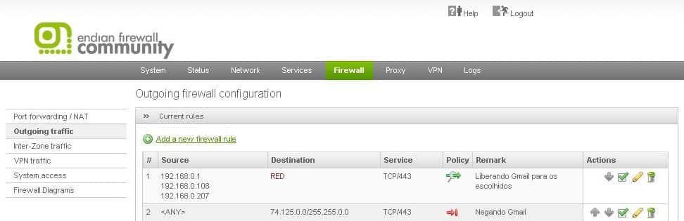 Como bloquear o Gmail com Endian Firewall!