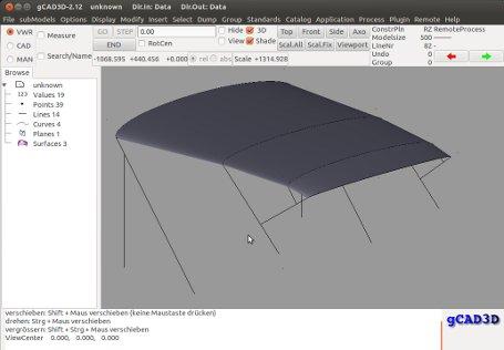 Como Instalar gCAD3D no Debian Linux Mint, Ubuntu