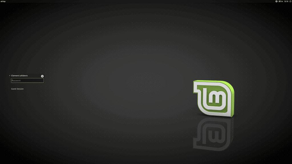 Linux Mint 18.2 Tela Login
