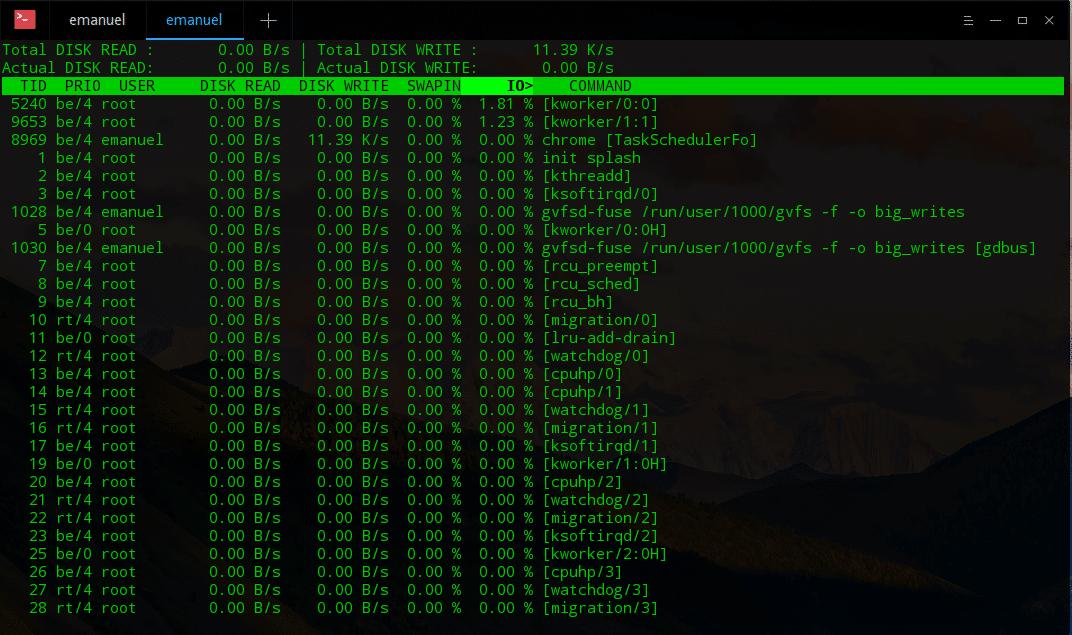 como verificar a lentidão no sistema linux causada pelo HD