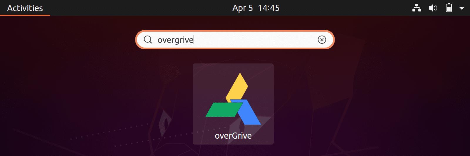 Overgrive Googledrive No Linux