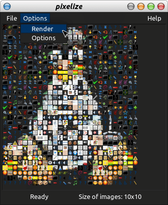 Imagem renderizada 10x10 pixels