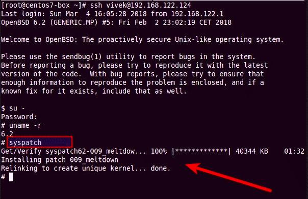 Solucionando o Meltdown no OpenBSD Unix