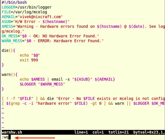 Como: Salvar arquivo no editor de texto Vi/Vim