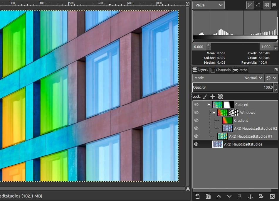 Gimp 2.10 colors