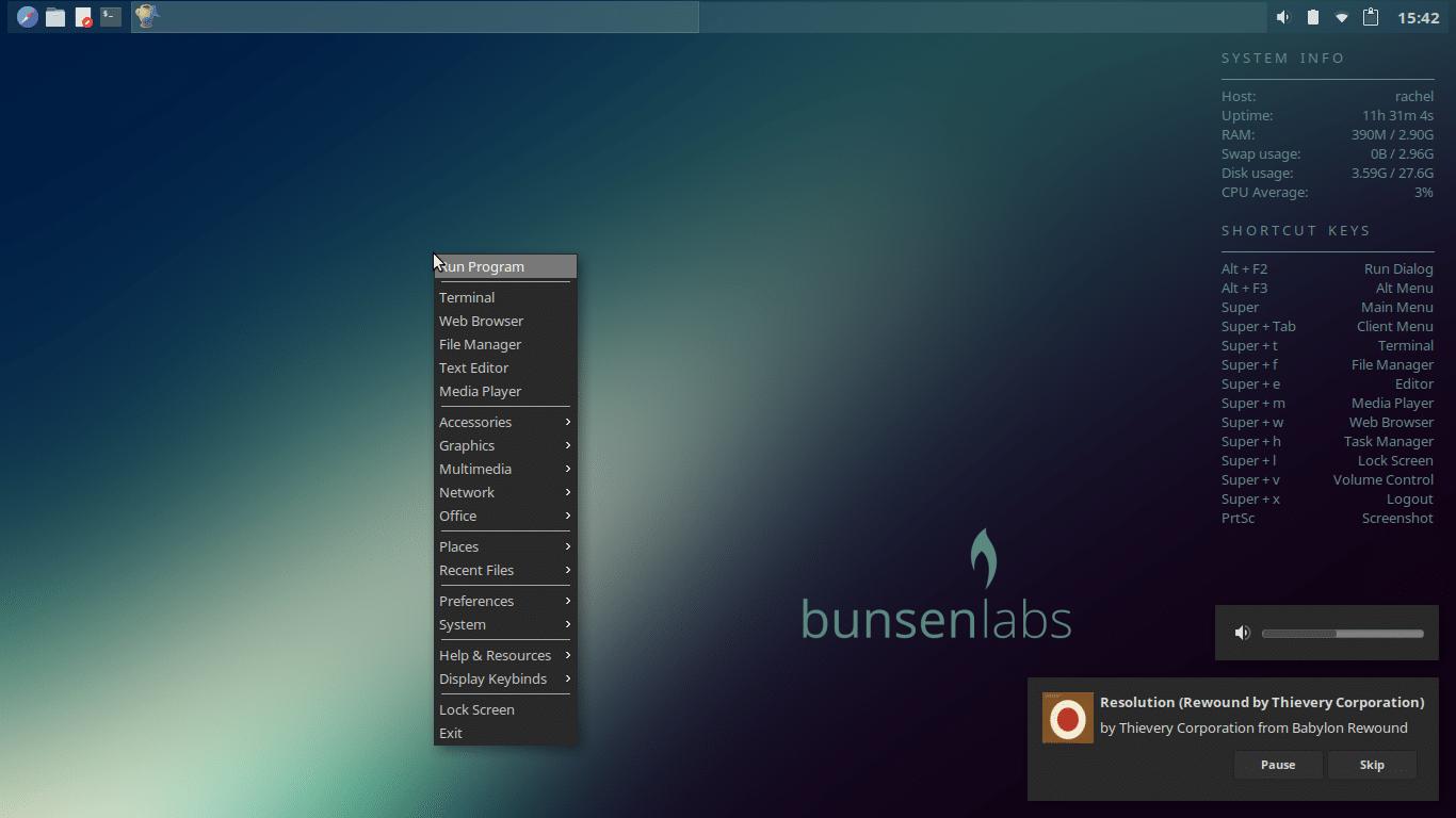 BusenLabs com ambiente Openbox