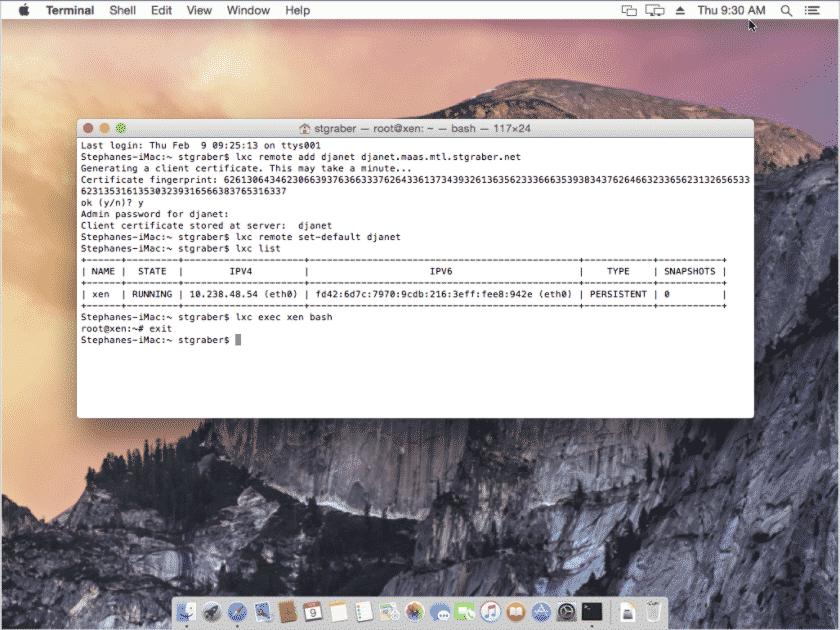 LXD no macOS