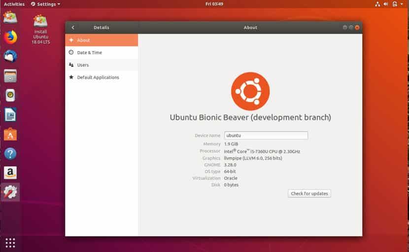 Ubuntu 18.04 desktop 2