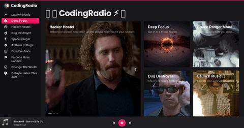 CodingRadio página