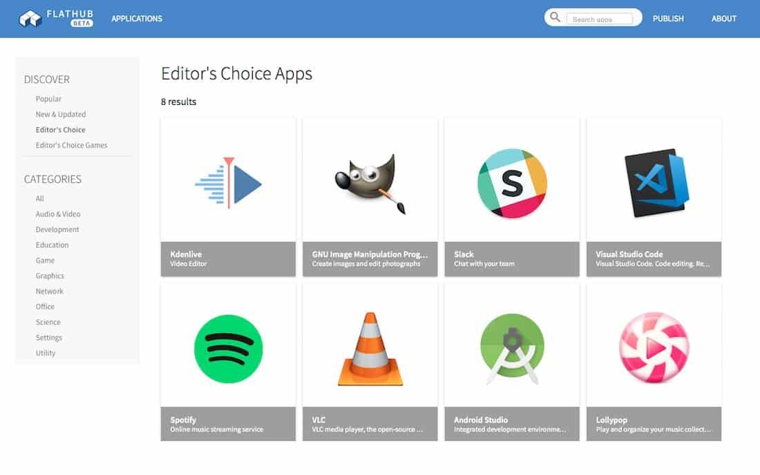 GIMP lidera lista de aplicativos no Flathub