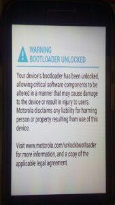 Atenção bootloader desbloqueado