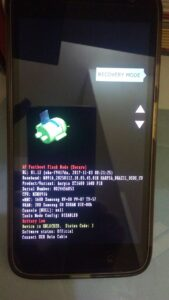 Tela fastboot- Recovery Mode