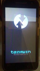 Tela de inicialização - Team Win Recovery Project