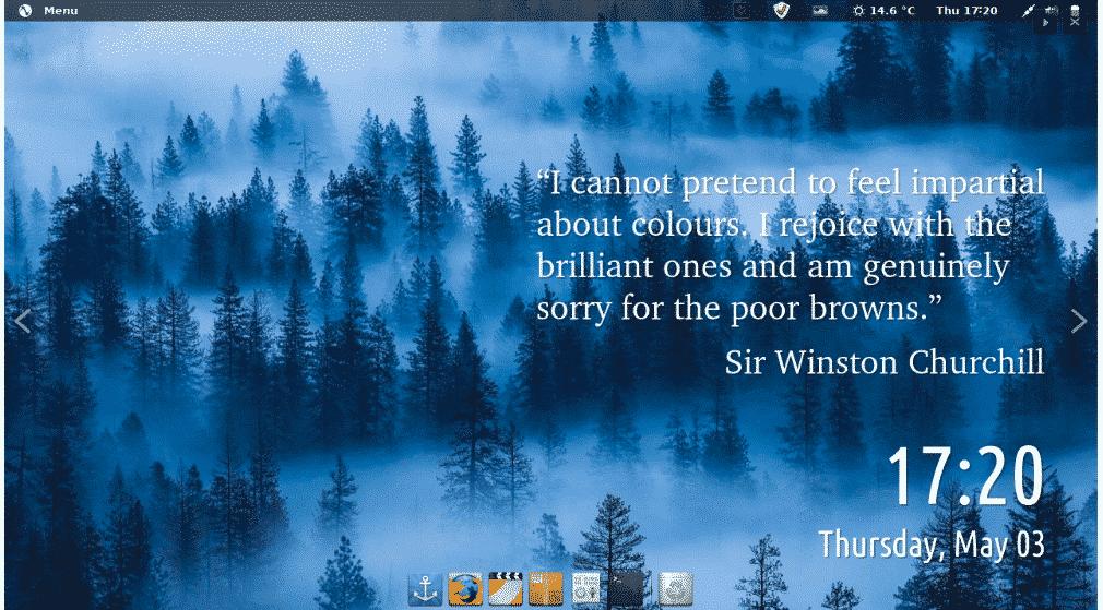 Pinguy desktop