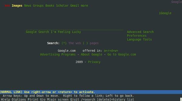 Como navegar na internet pelo terminal do GNU/Linux
