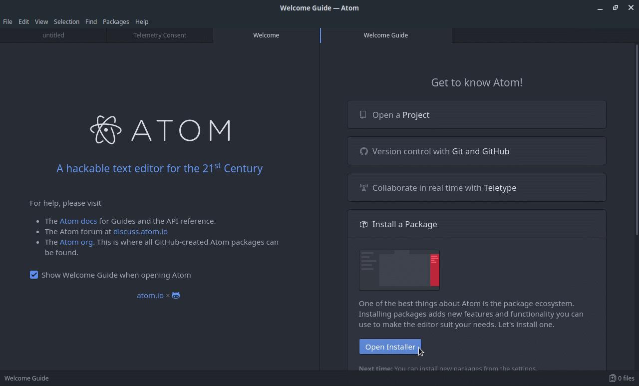 Como configurar o Atom para a linguagem C