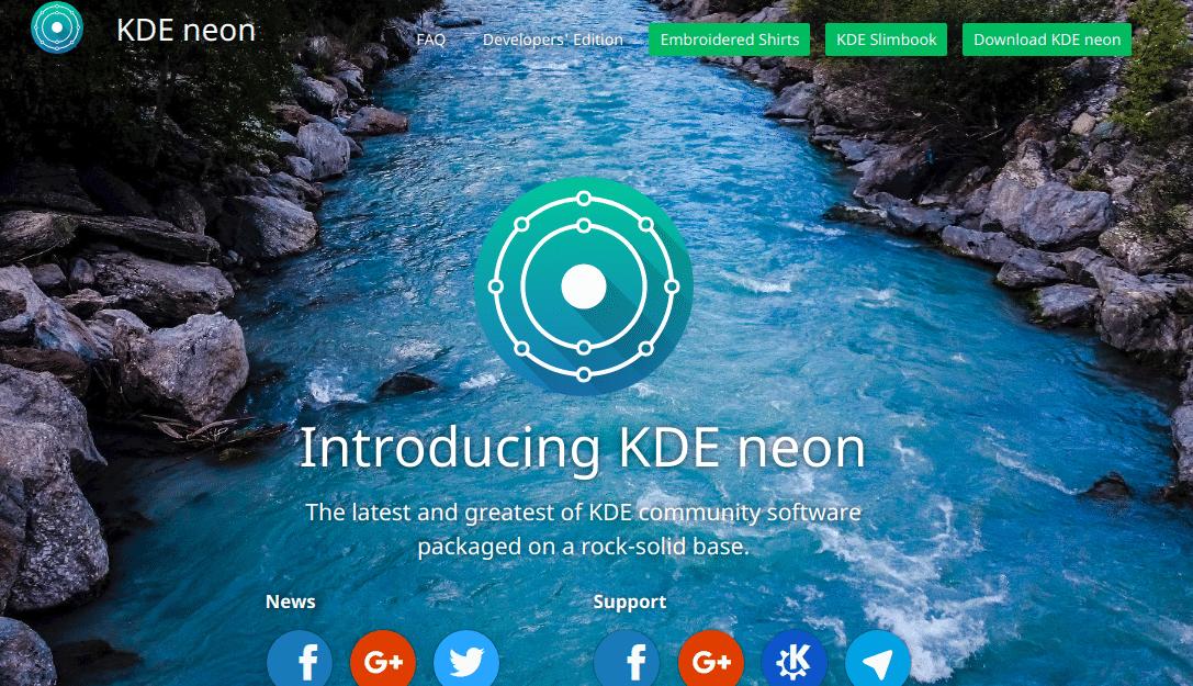 Página KDE Neon