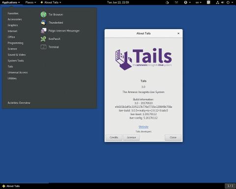 Tails desktop