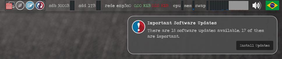 Como receber notificação de atualizações no painel do Xfce - ícone e notificação