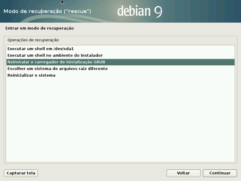 11 Recuperar Grub Do Debian Com Disco De Instalação
