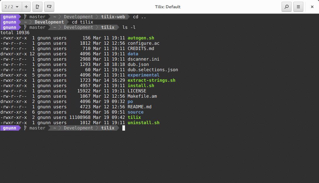 Tilix 1.8.3 lançado