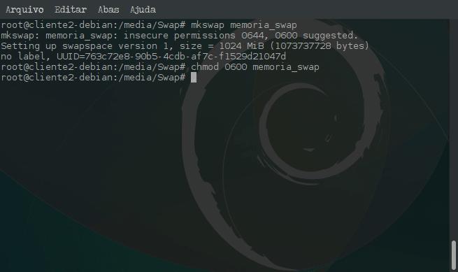 Criar arquivo de memória Swap e ativar no sistema - mkswap
