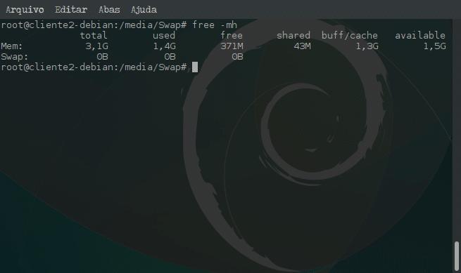 Criar arquivo de memória Swap e ativar no sistema - free -mh
