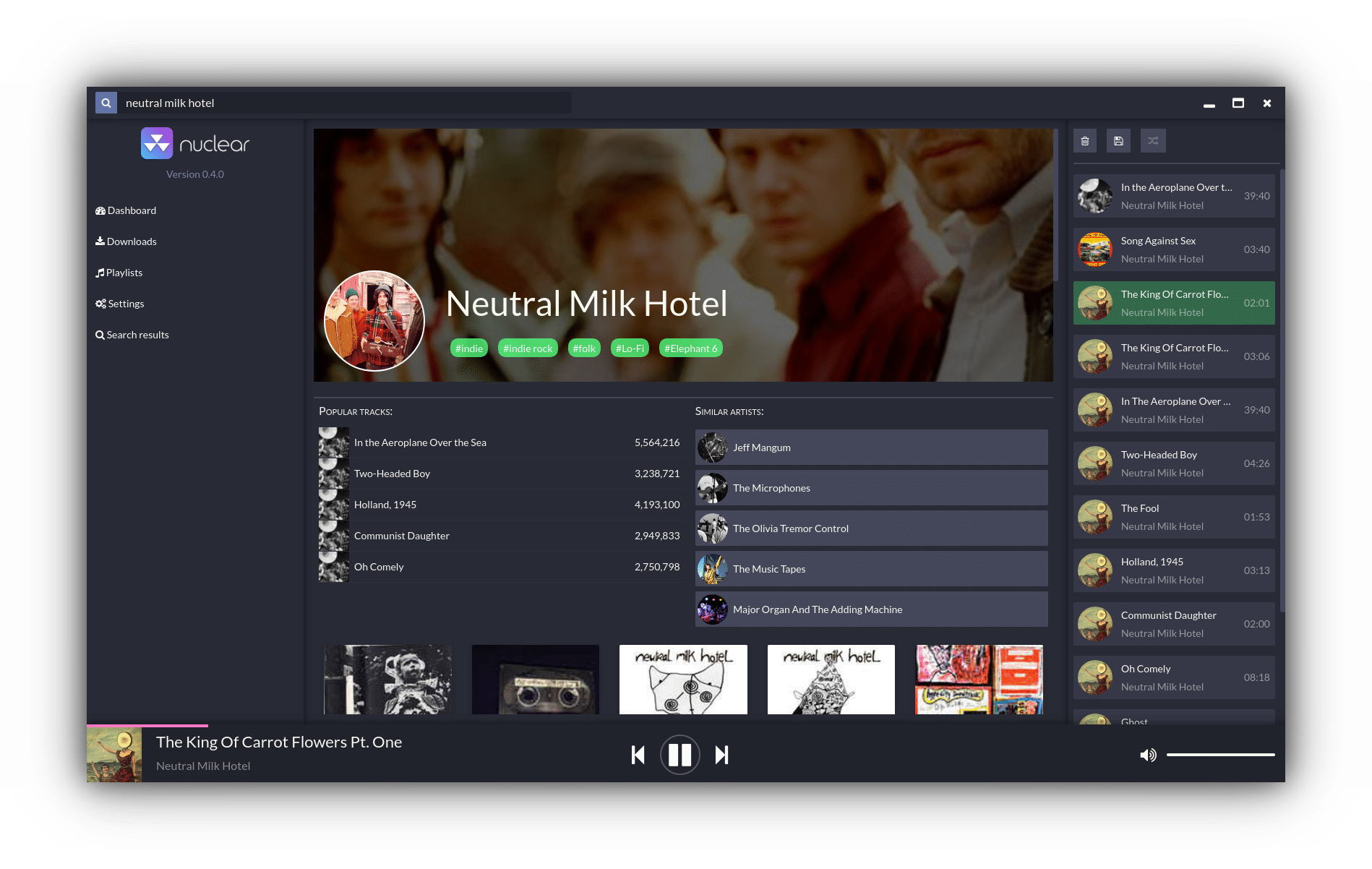 Nuclear Music Player no Ubuntu