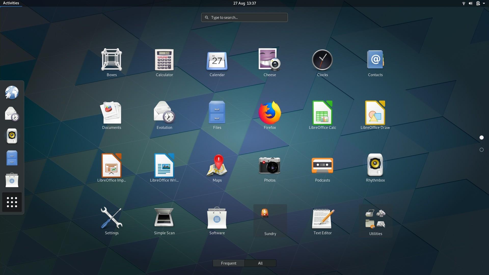 Sai versão 3.30 do GNOME