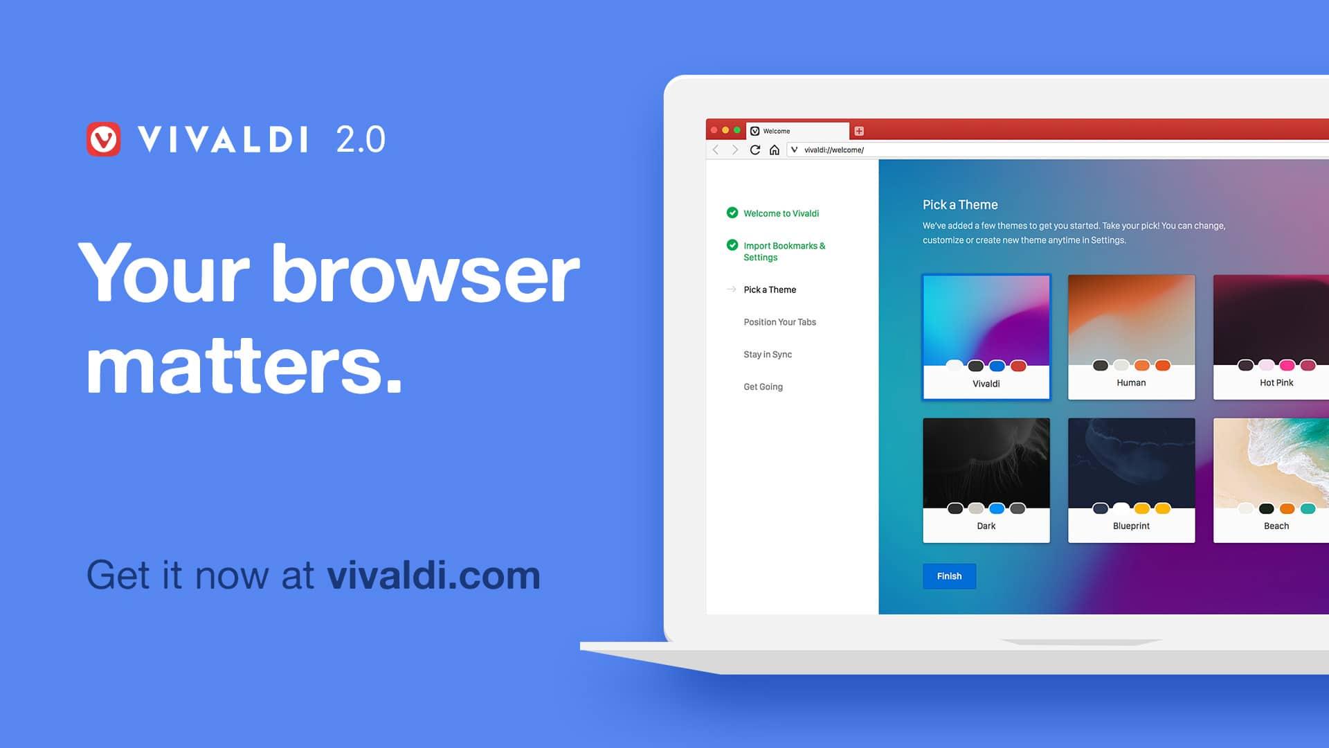 Lançado Vivaldi 2.0 com novas funções