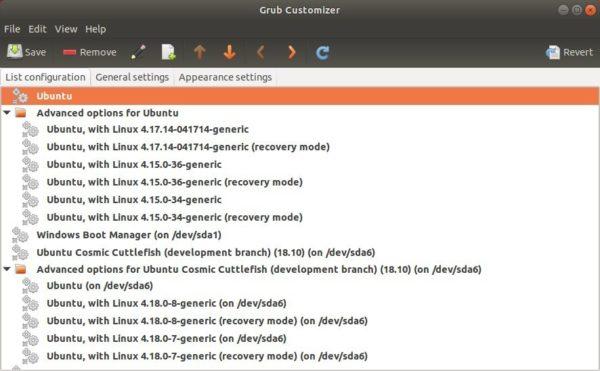 Grub Customizer chega à versão 5.1.0