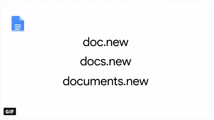 Google lança atalho para criação de documentos