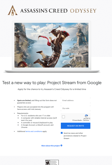 Google entra no streaming de jogos com o Project Stream