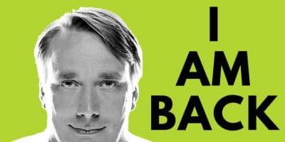 Linus Torvalds está de volta