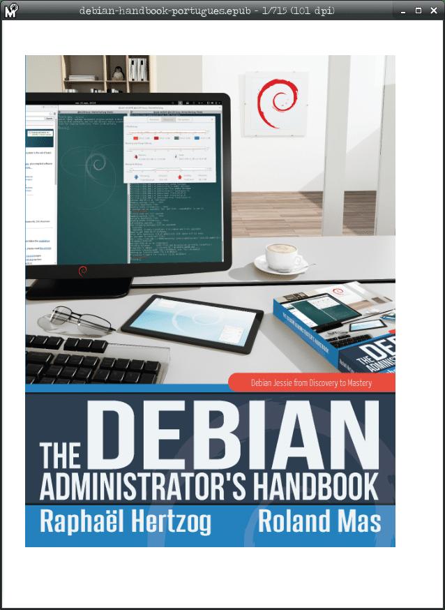 Instalar leitor de e-books no Debian - MuPDF