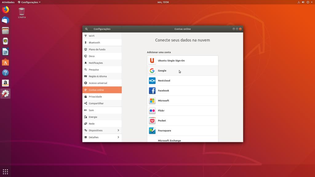 Como acessar a conta do Google Drive no Ubuntu 18.04