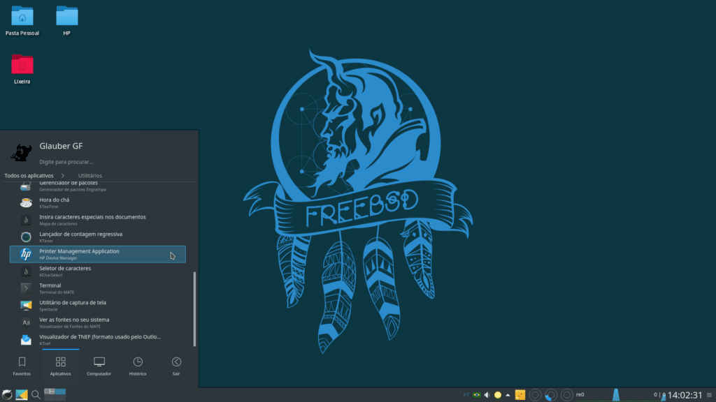 Instalar impressora HP no FreeBSD - Printer Management Application
