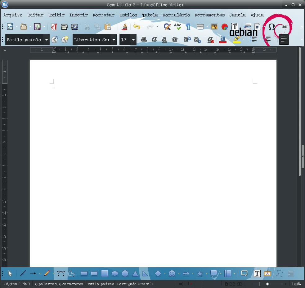 Como adicionar tema no LibreOffice - LibreOffice com tema Debian Linux