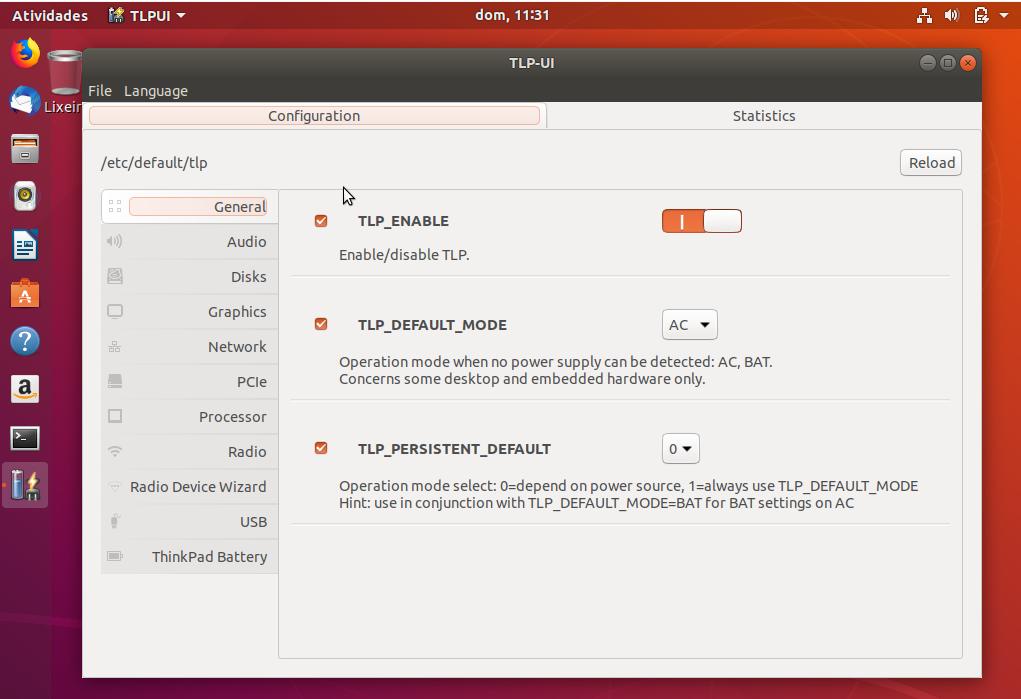 Como instalar o TLPUI no Ubuntu, Linux Mint e derivados-2018