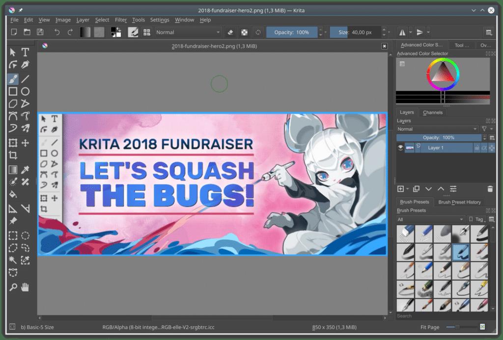 Krita 4.1.7 é lançado com várias correções de bugs