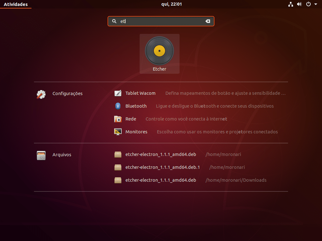 Como Instalar o Etcher no Ubuntu 18.04