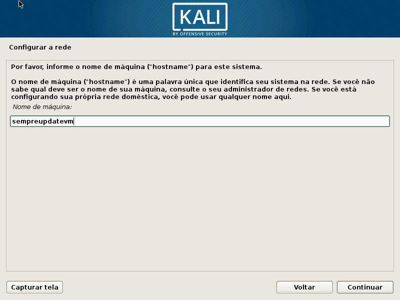 Kali Linux - Configurar rede