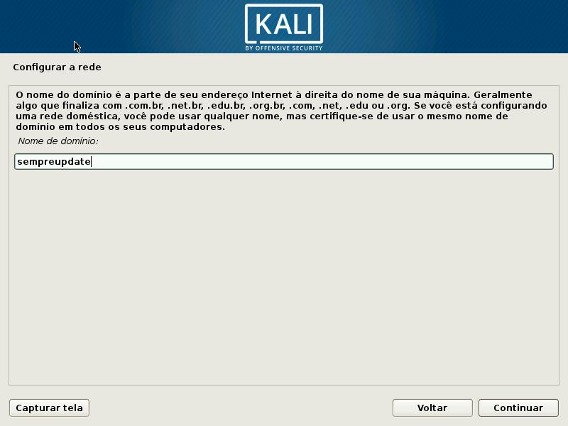 Kali Linux - Configurando domínio