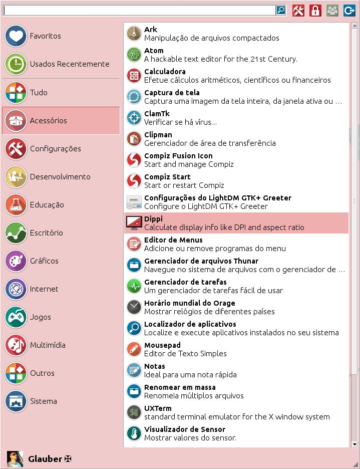 Flatpak - Dippi no menu XFCE do Debian.